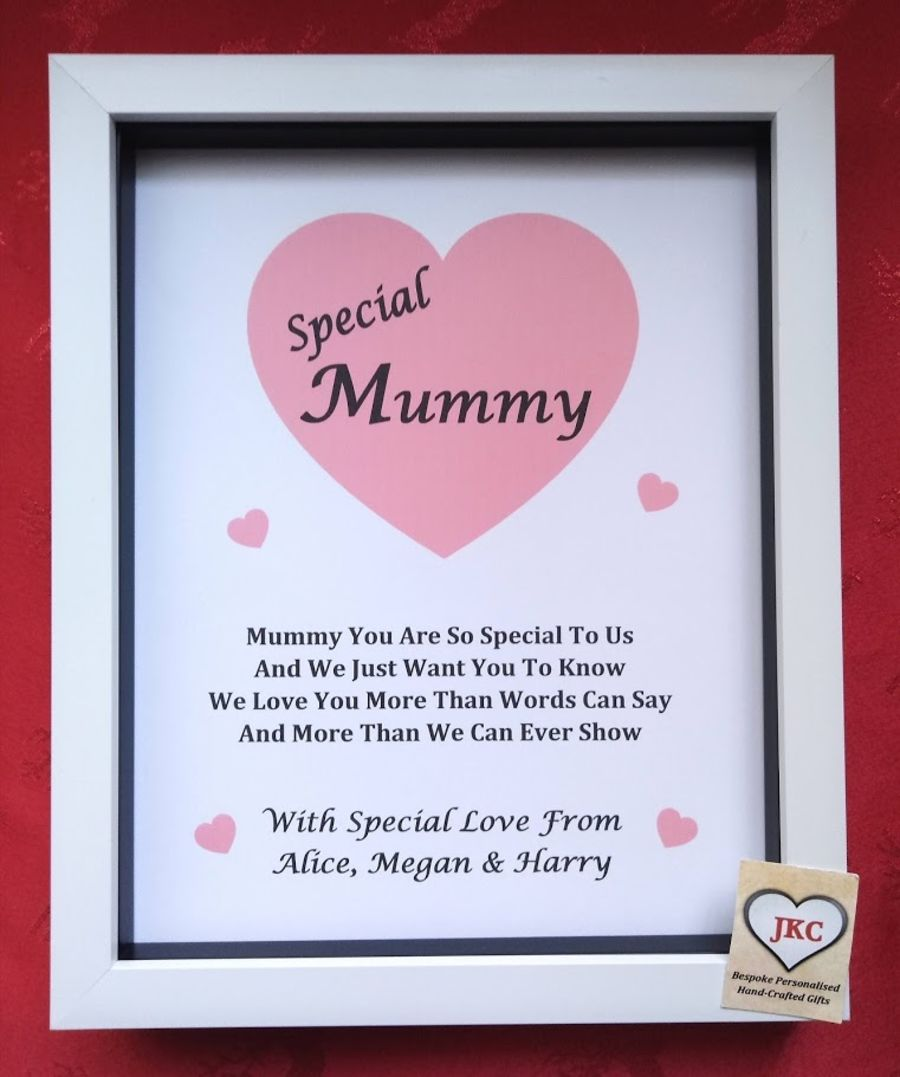 Mothers Day Personalised Print Box Frame Gift
