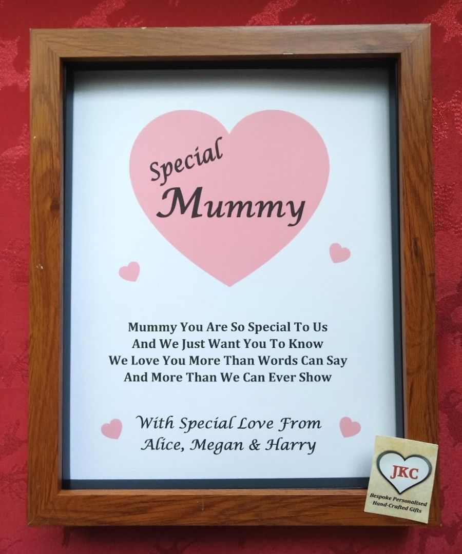 Personalised Print Box Frame Christmas or Easter Gift