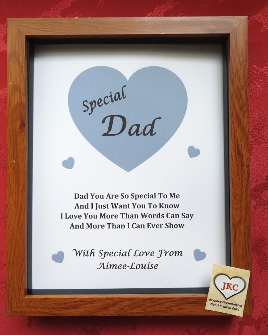 Personalised Birthday Print Box Frame Male