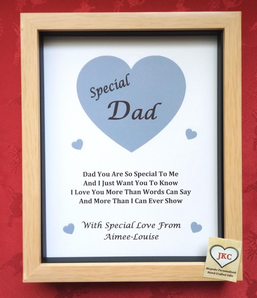 Personalised Christmas or Easter Print Box Frame Male