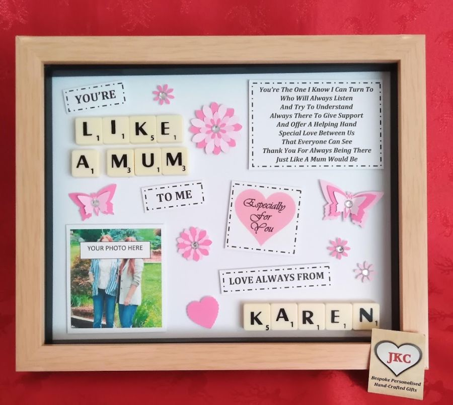 Personalised Like A Mum To Me Box Frame Gift
