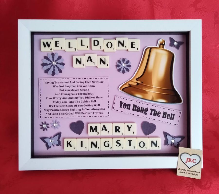 End Of Treatment Ring The Bell Box Frame Keepsake Gift