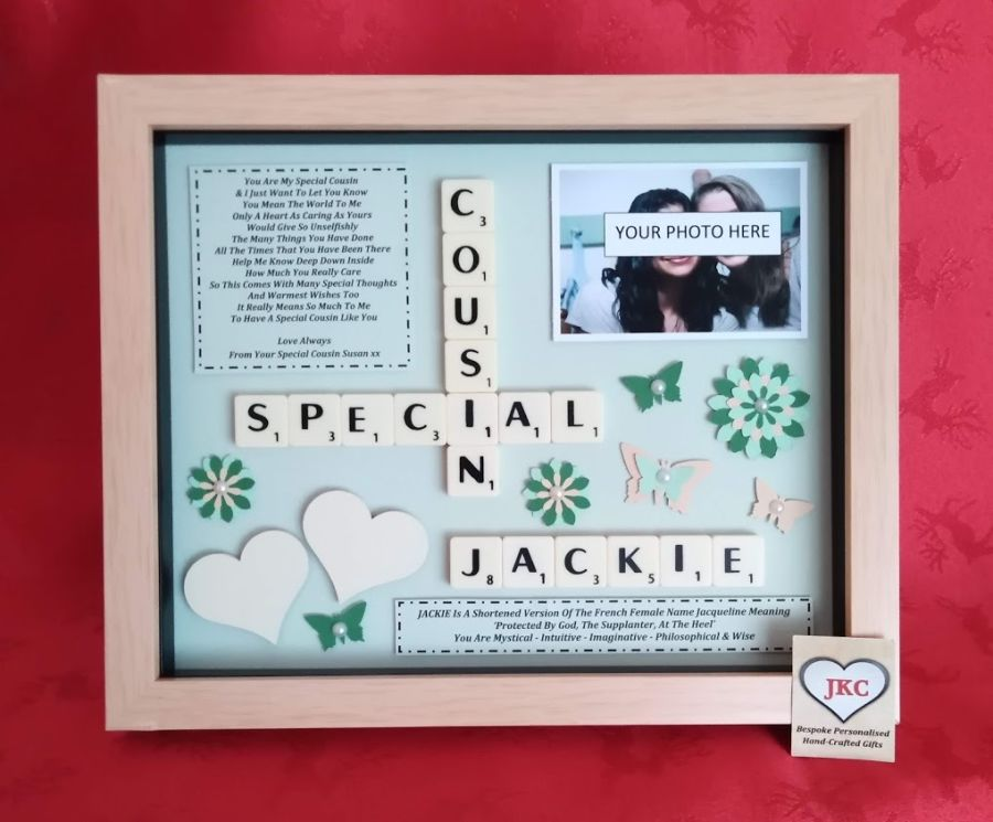 Special Cousin Personalised Box Frame Gift