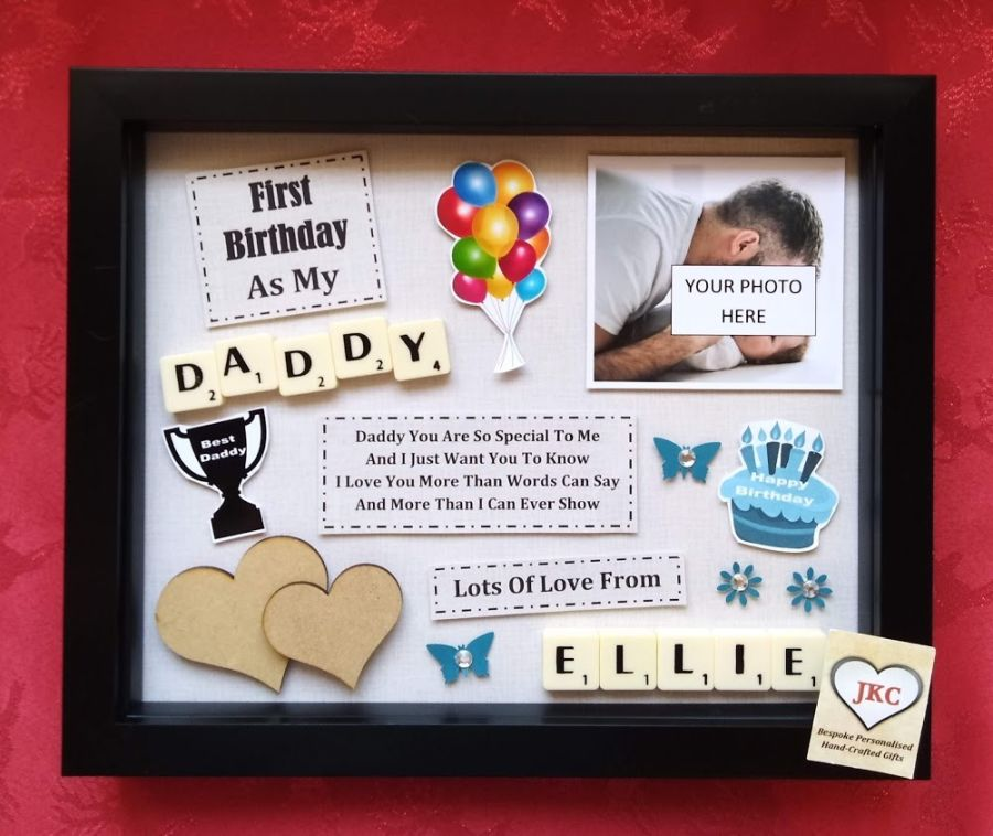 First Birthday As Daddy Personalised Box Frame Gift