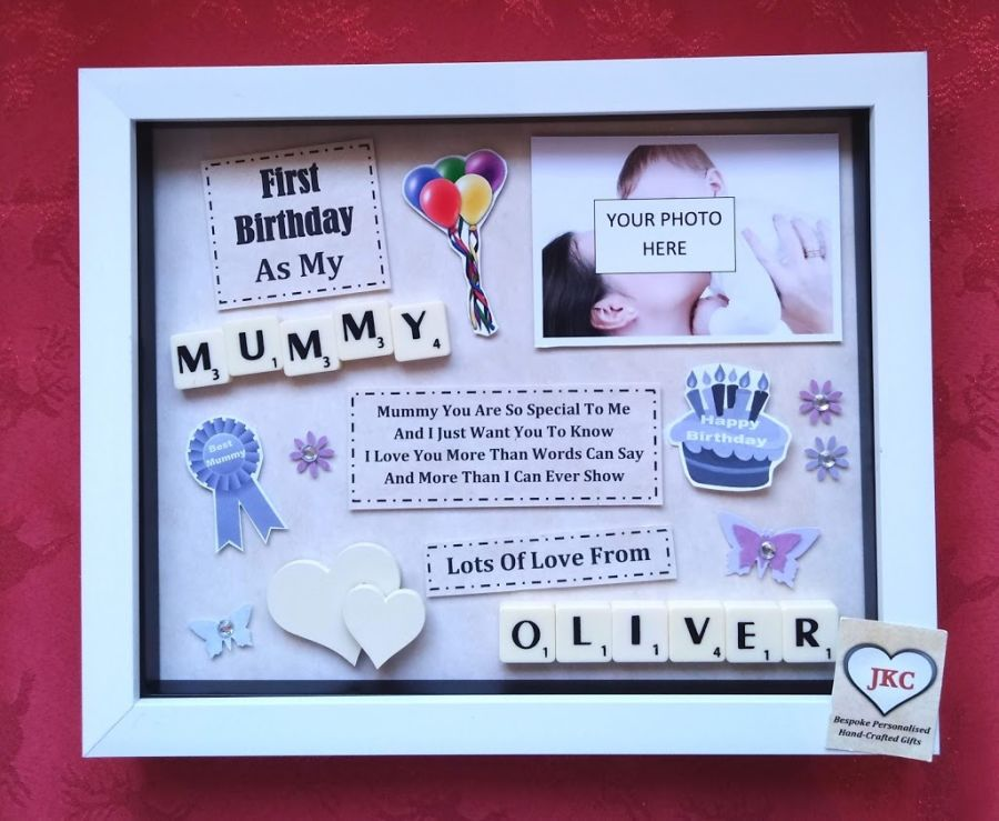 First Birthday As Mummy Personalised Box Frame Gift