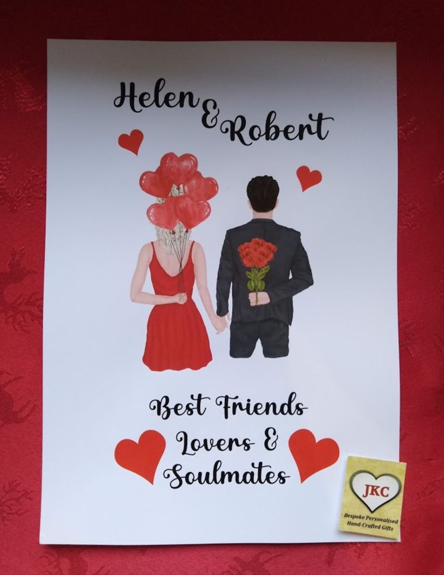 Personalised Valentine's Day Print UNFRAMED