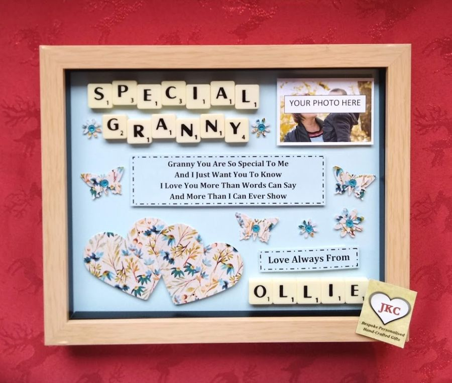 Personalised Mothers Day Box Picture  Frame Gift Floral Design 2