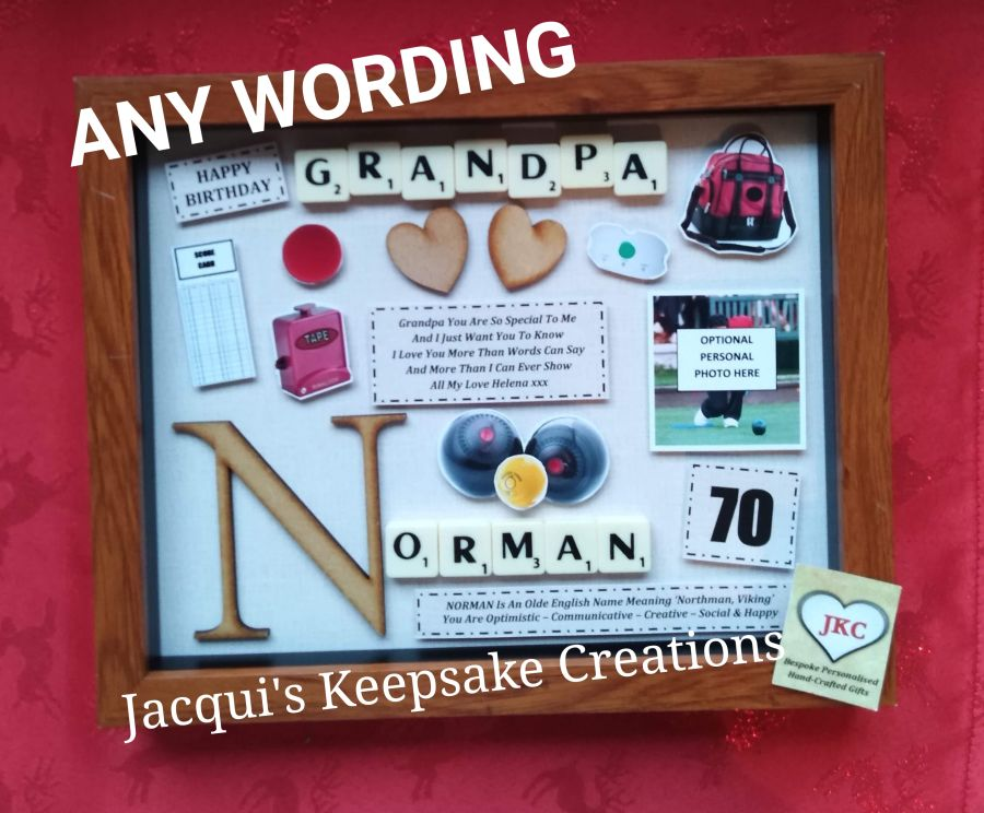 Personalised Bowling Gift Photo Frame Picture Keepsake