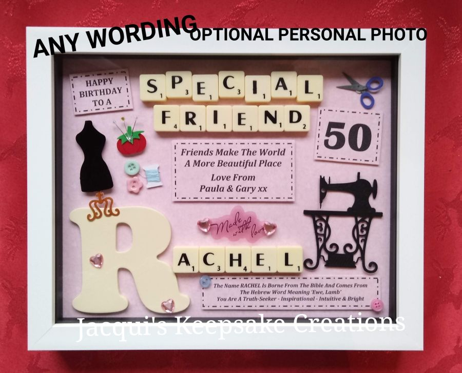 Personalised Sewing Gift Photo Frame Picture Keepsake