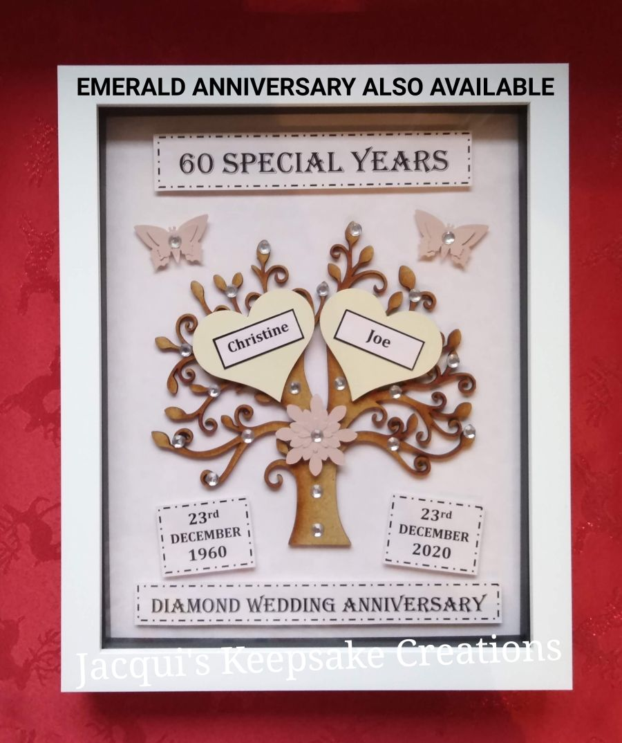 Emerald 55th Wedding Anniversary Tree Keepsake Gift