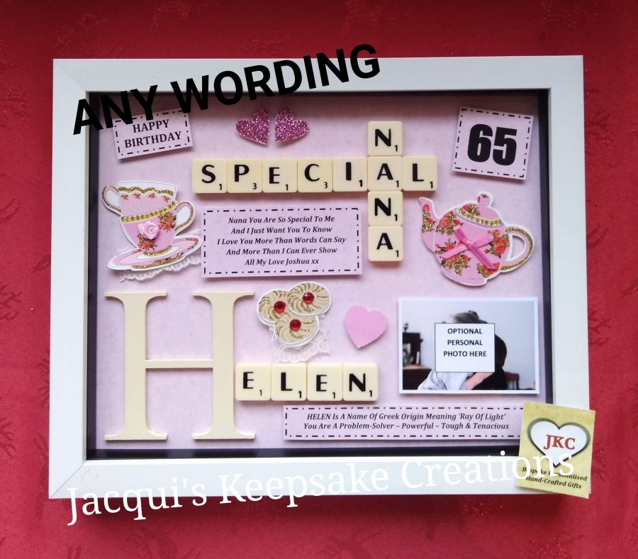 Personalised Afternoon Tea Gift Photo Frame Picture Keepsake