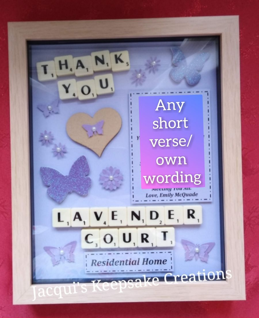 Care Home 'Thank you' Personalised Keepsake Gift