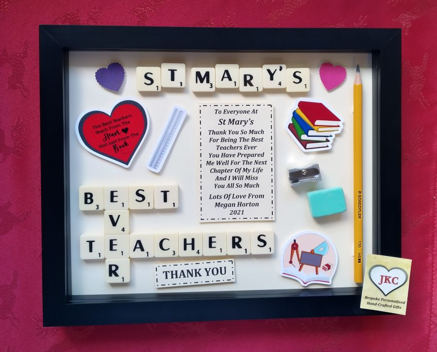 Group Of School Teachers Thank You Box Frame Gift