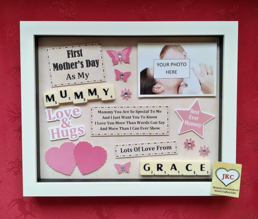 First Mothers Day As Mummy Personalised Box Frame Gift