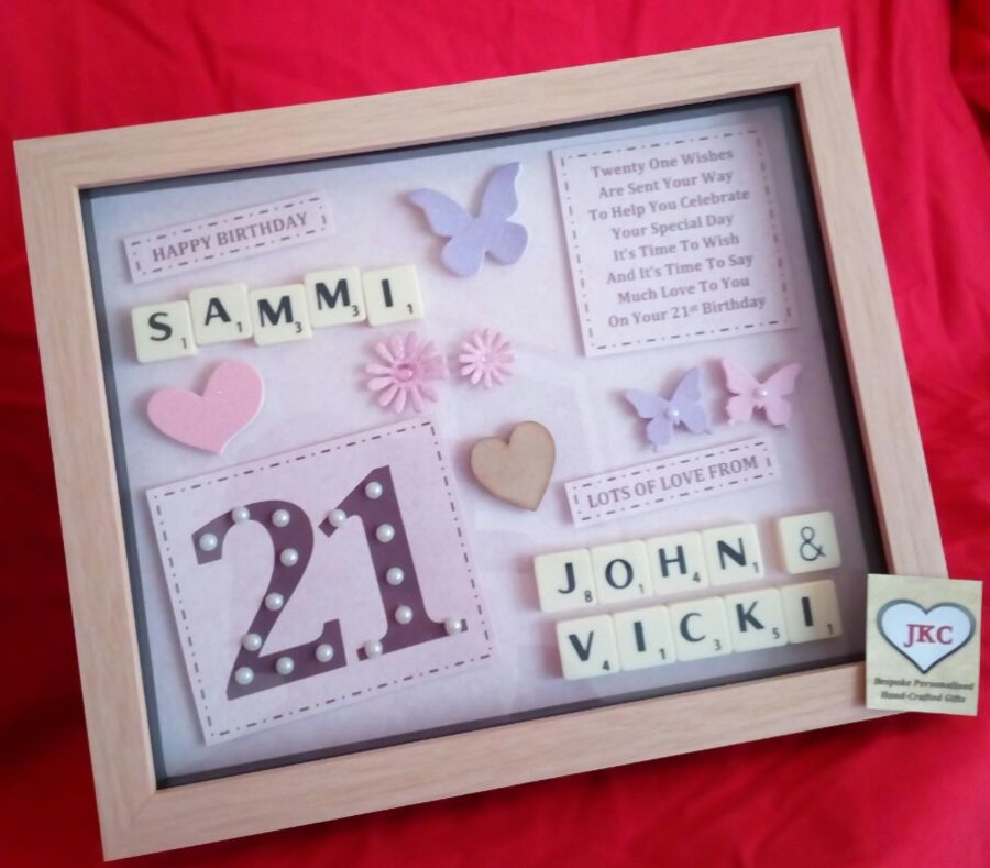 Personalised 50th Birthday Keepsake Frame Picture Gift