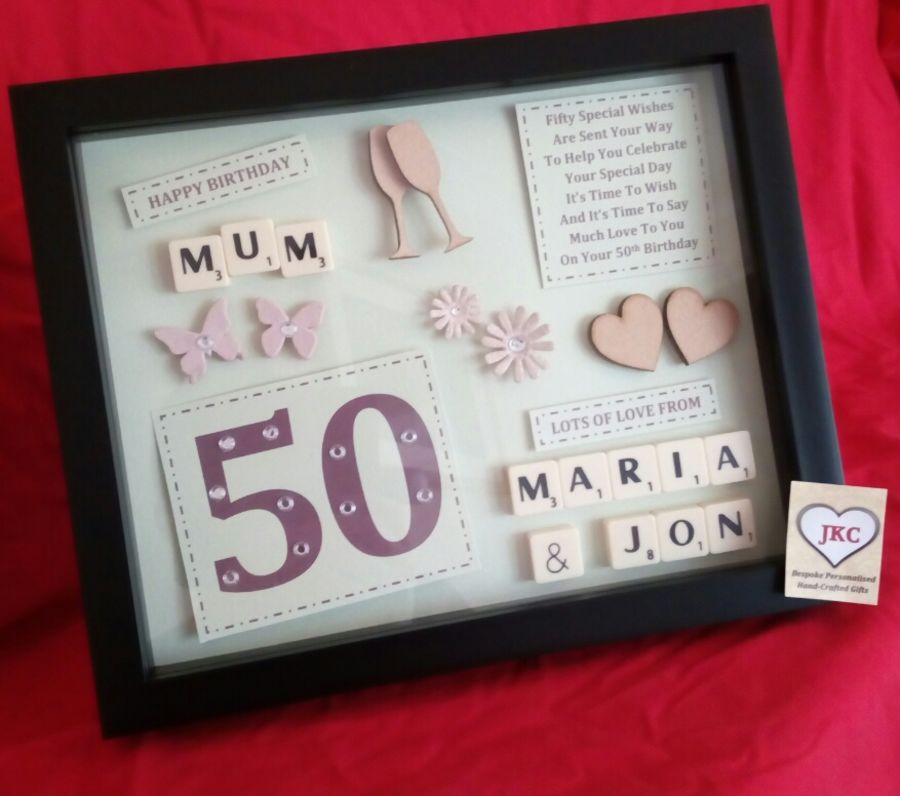 Personalised 65th birthday keepsake frame picture gift