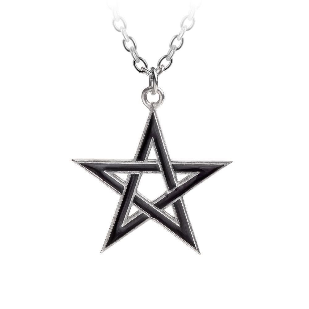 Alchemy Gothic Black Star Pentagram Pendant