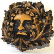 Green Man Wall Plaque Misericord Carving From Lincoln Cathedral