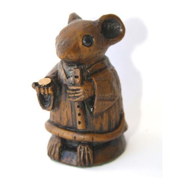 Church Mouse Busking - Reproduction Carving - Ornament