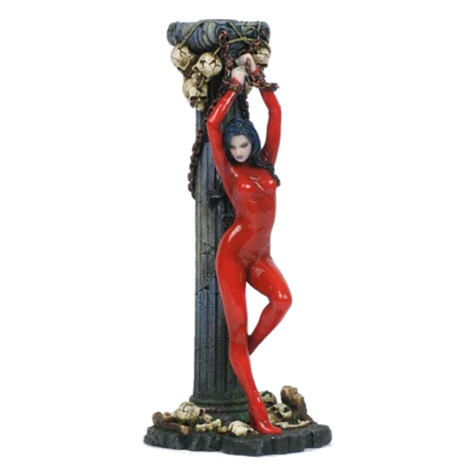 Sexy Submissive Female Andromeda Candlestick By Nemesis Now