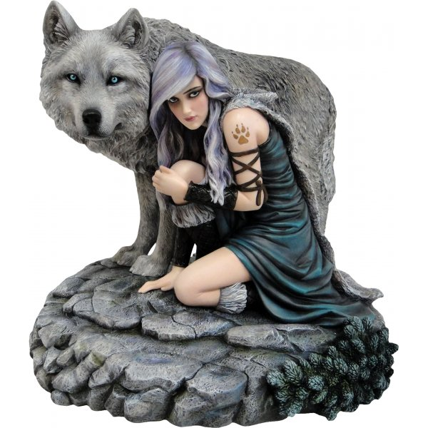 Anne Stokes Protector Wolf Figurine