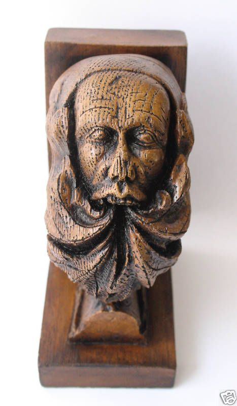 Green Man Bookend - Authentic Medieval Carving From Ely Cathedral
