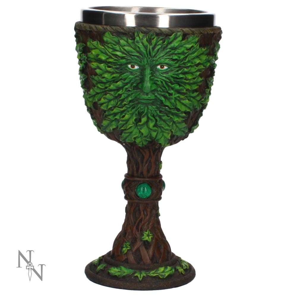 Green Man Heart of the Forest Wine Goblet 19cm