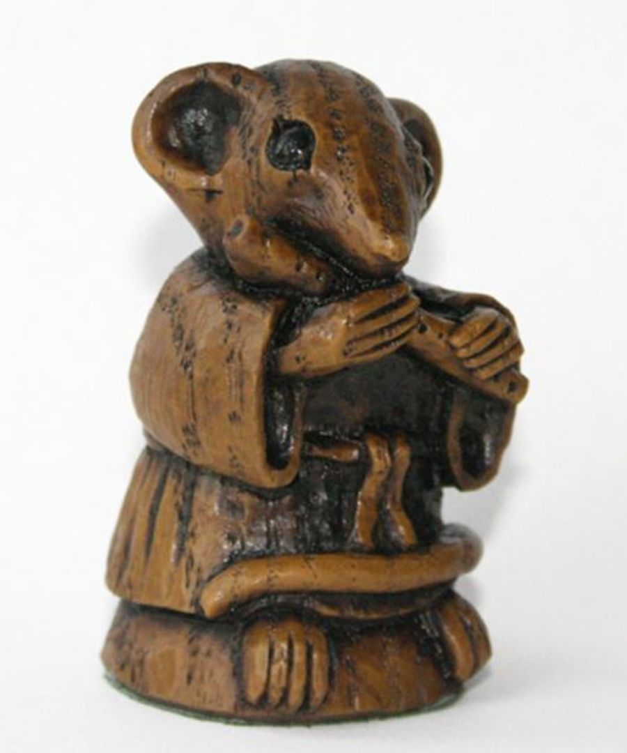 Church Mouse Ornament:  Musician playing the Flute