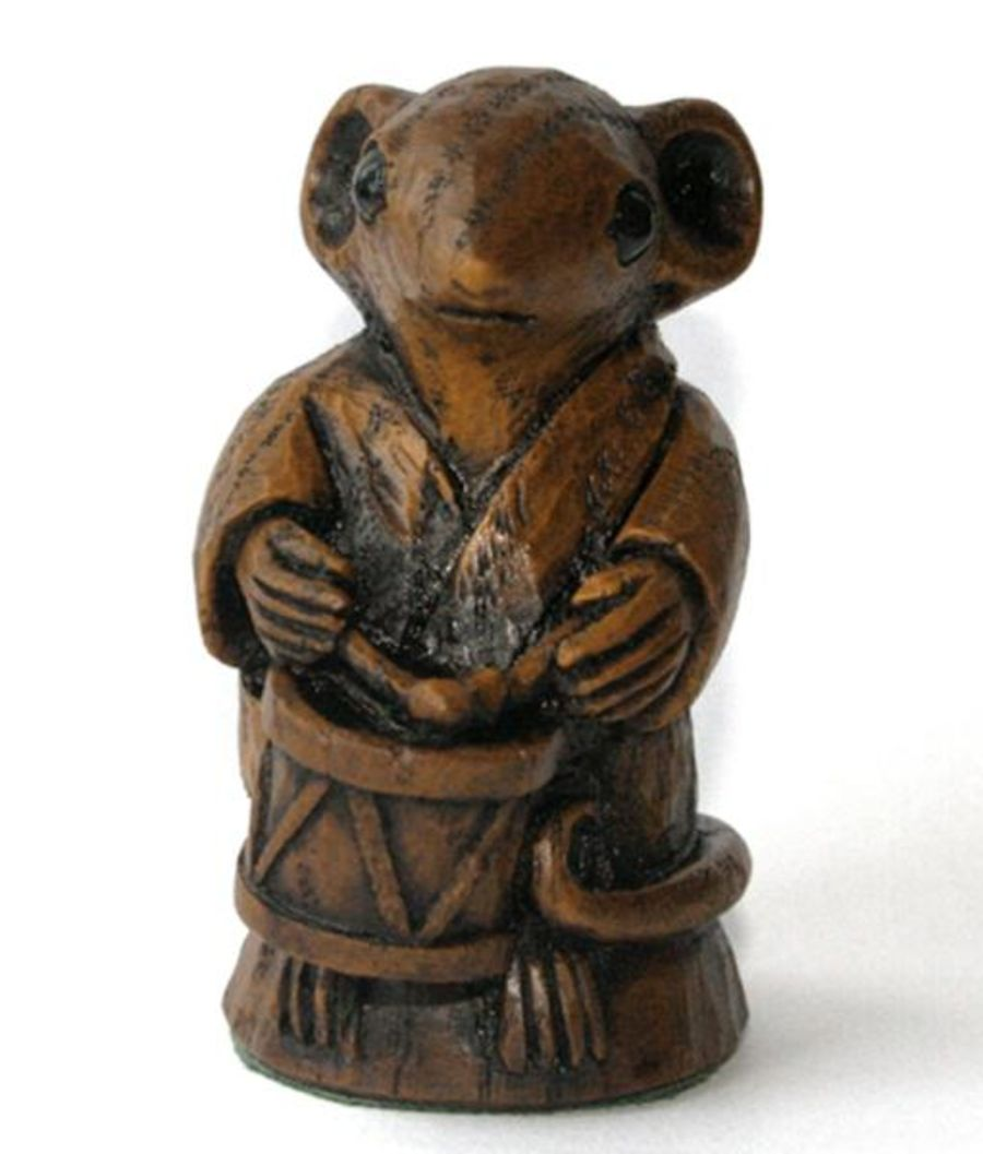 Church Mouse Figurine :The Drummer