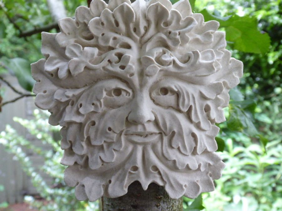 The Gothic Green Man Wall Plaque – Portland or Cotswold Stone
