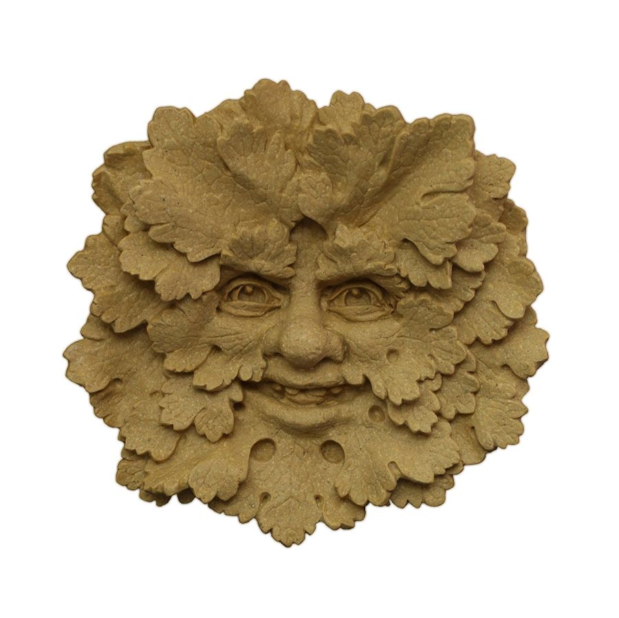 The Woodknot Green Man Wall Plaque – Portland or Cotswold Stone 110 x 115 mm