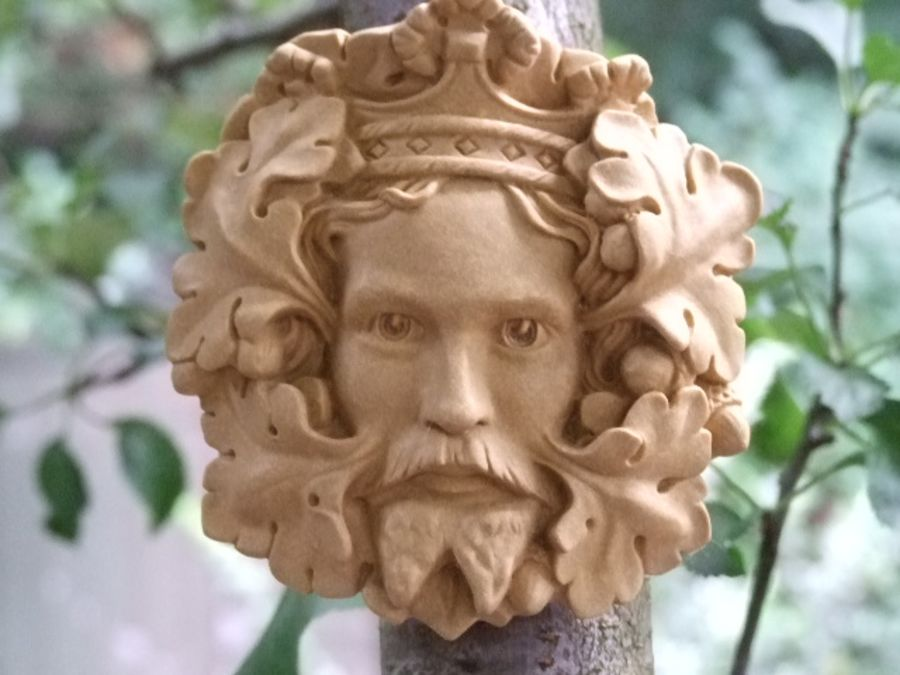 Green King Green Man Wall Plaque – Portland or Cotswold Stone