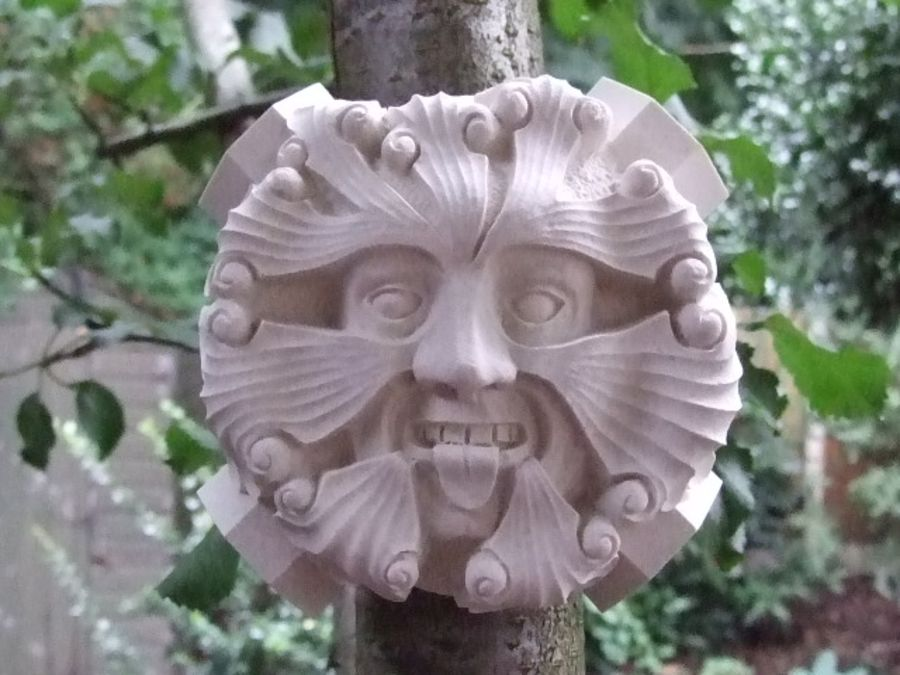 Green Man Wall Plaque - Roof Boss from Tewkesbury Abbey