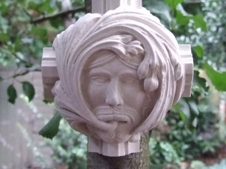 Green Man Wall Plaque - Roof Boss from Worcester Cathedral 2