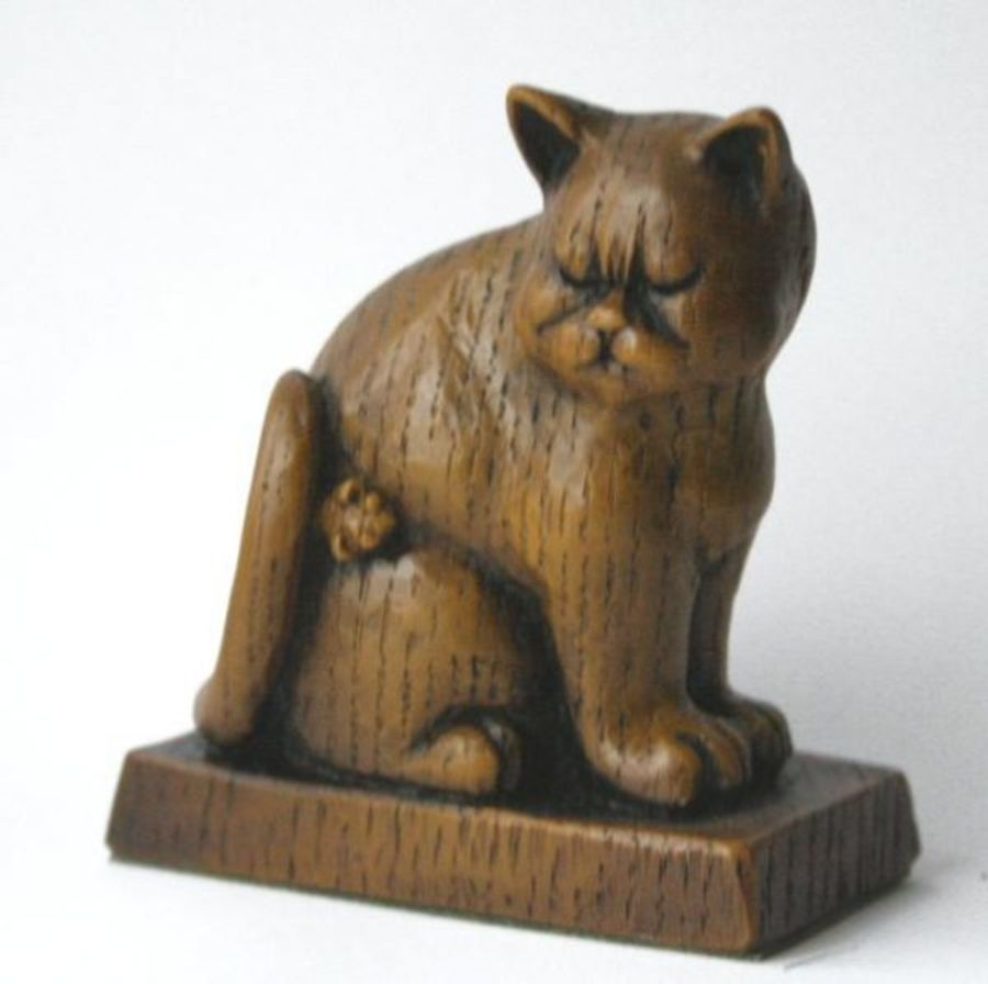 Church Cat With Mouse Wall Plaque