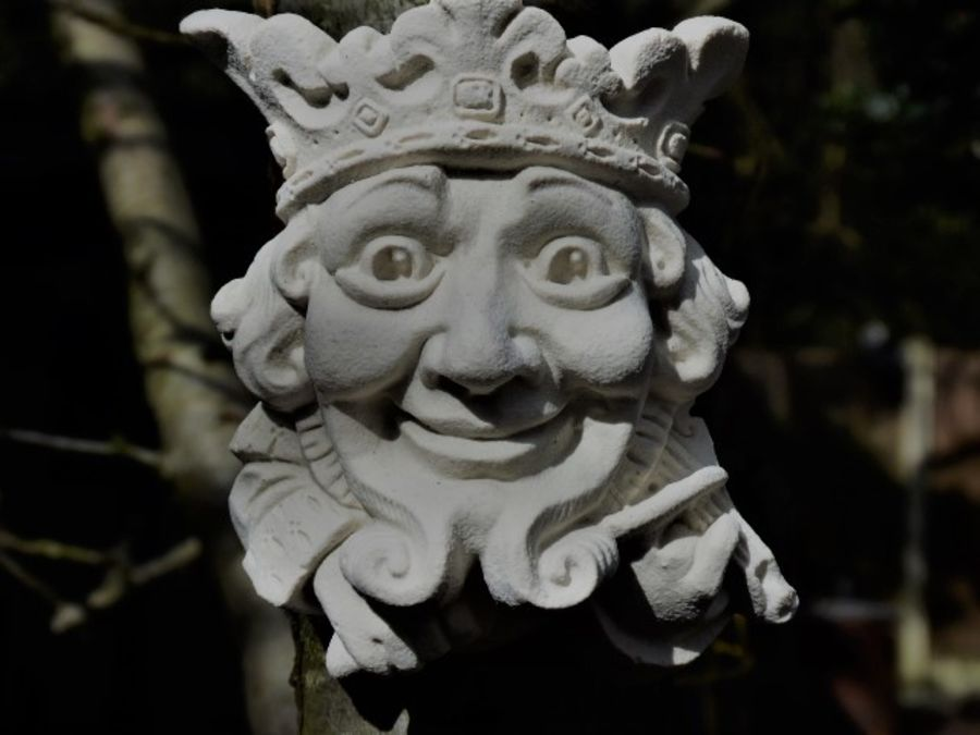 Majestic King Green Man Wall Plaque – Portland or Cotswold Stone