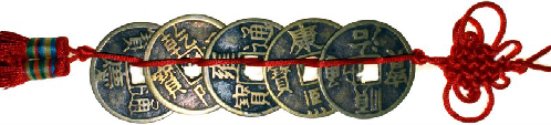 Chinese 5 coin tassel