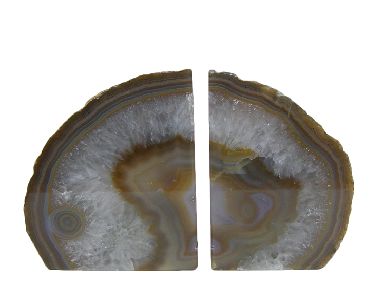 Natural Agate Crystal Bookends