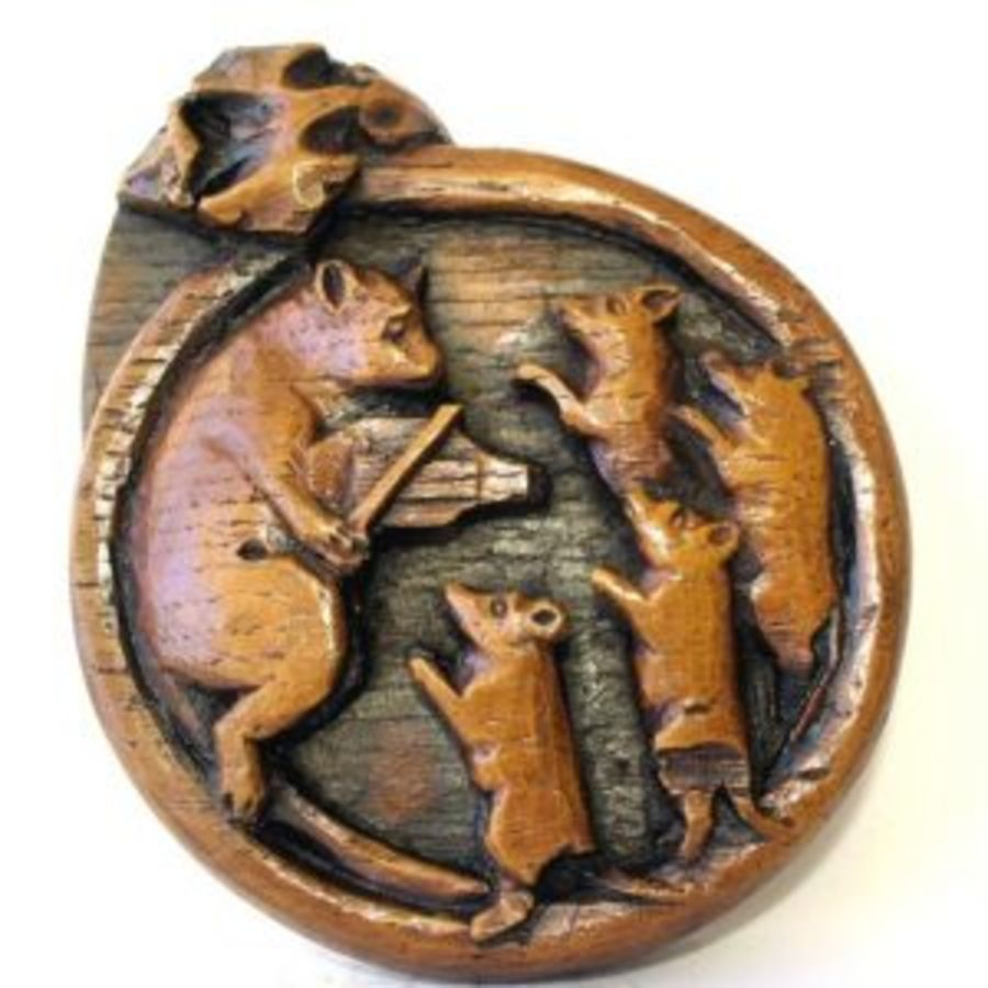 Cat with mice dancing wall plaque