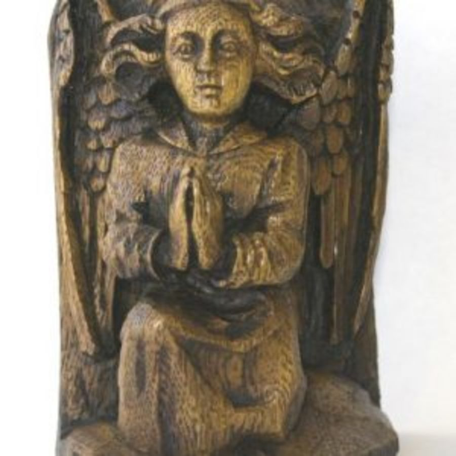 Angel  Kneeling and Praying Wall Plaque