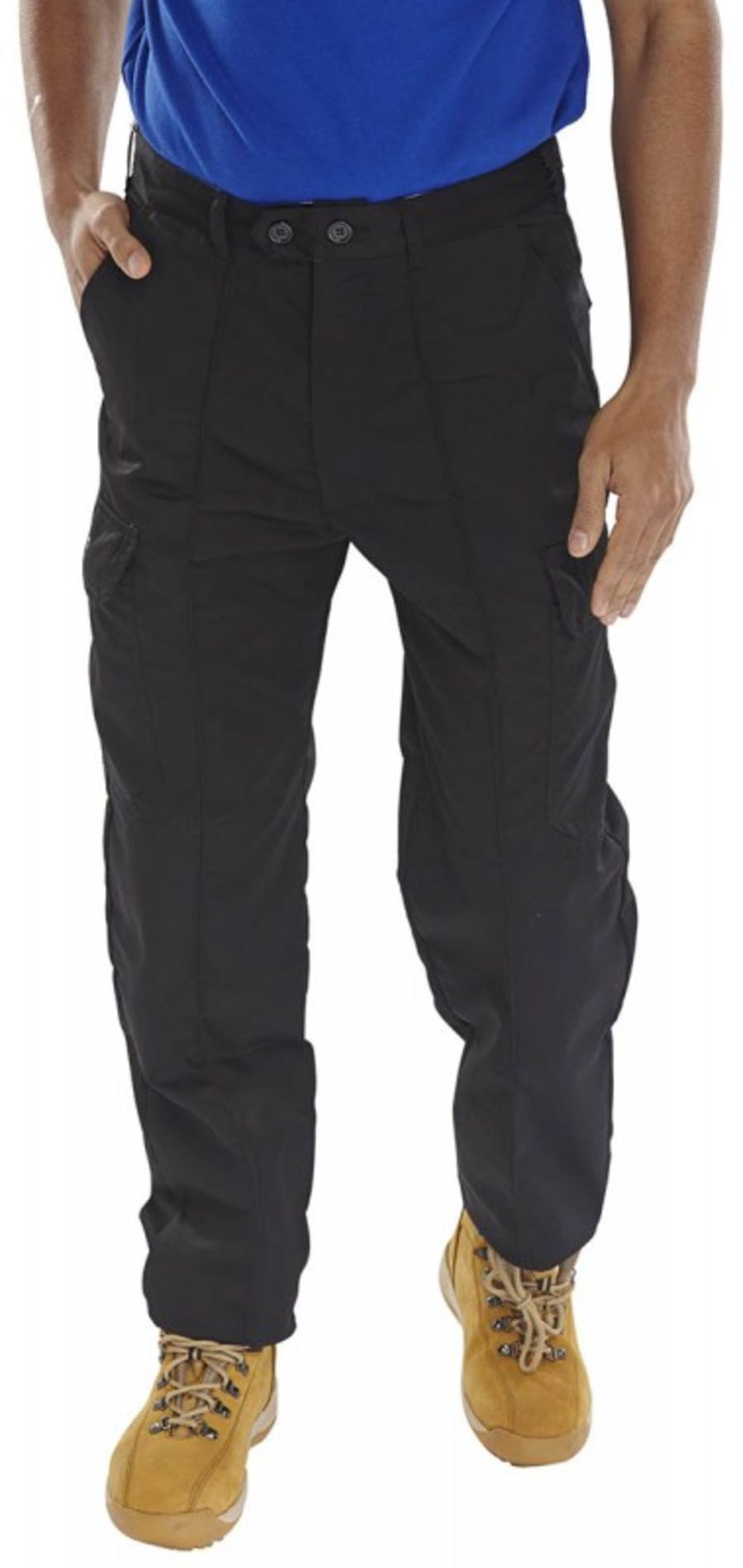 Click 7oz PolyCotton Trousers Black