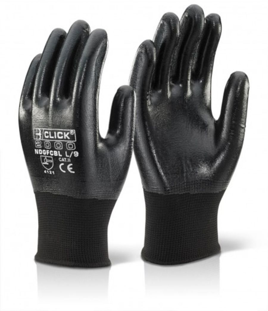 Click 2000 Nitrile Fully Coated Polyester Glove