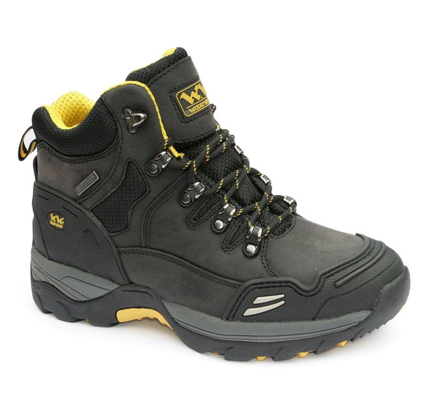 Wood World Waterproof Black Leather Boot SBP – SRA