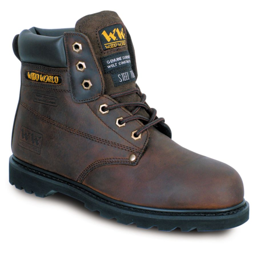 Wood World Brown Leather Boot SBP – SRA