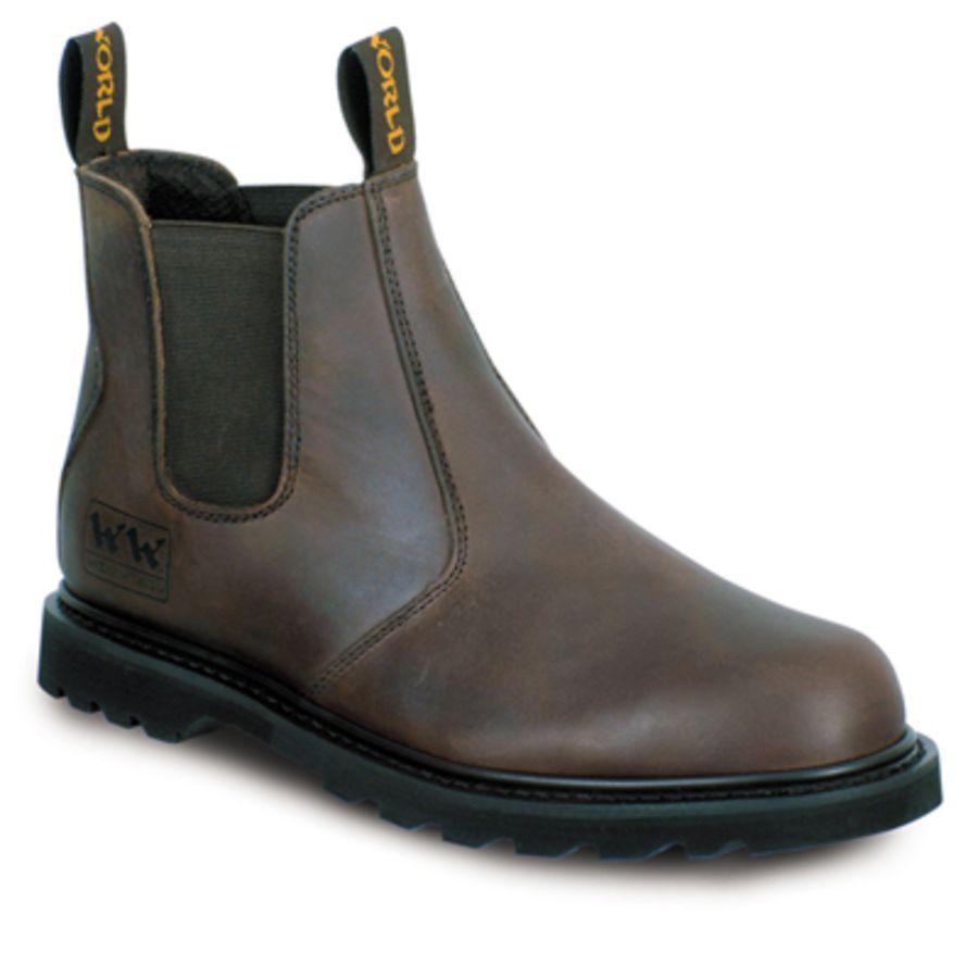 Wood World Brown Leather Dealer Boot SBP – SRA