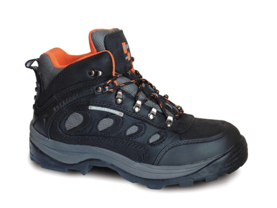 Workforce Waterproof Black Leather Boot SBP – SRA