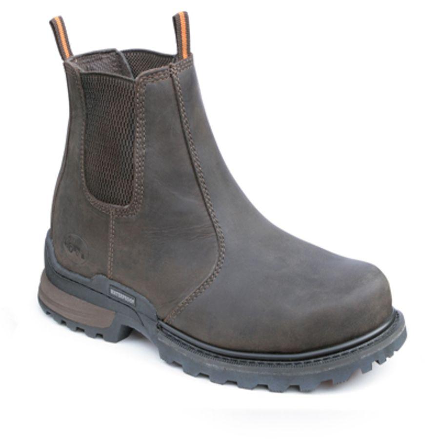 Workforce Waterproof Brown Leather Dealer Boot SBP – SRC