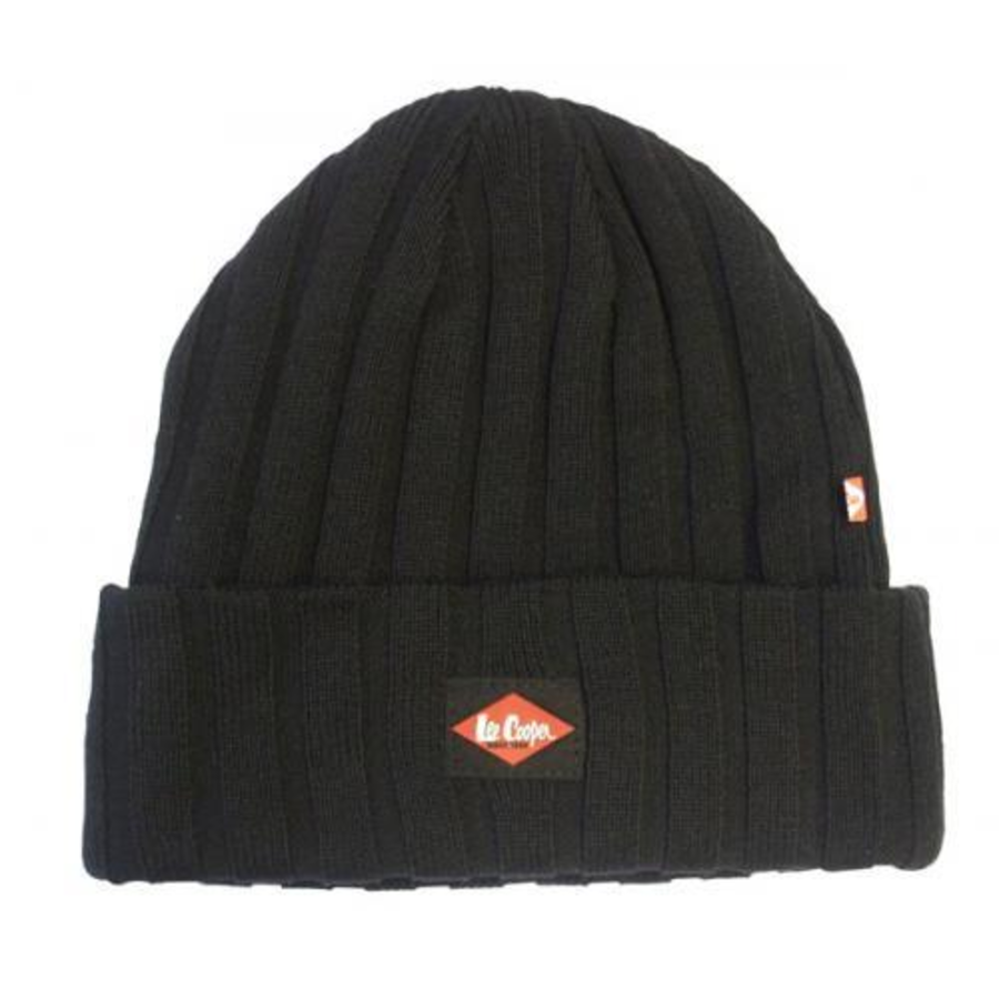 Lee Cooper Ribbed Beanie Hat