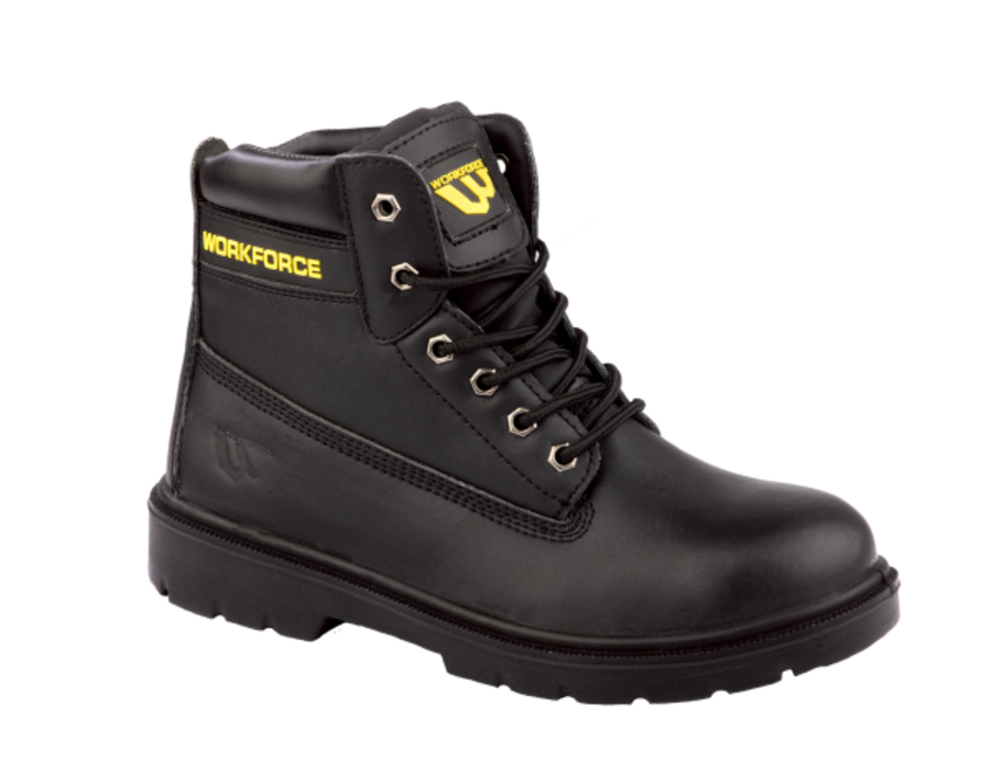 Workforce SBP Black Leather Safety Boot