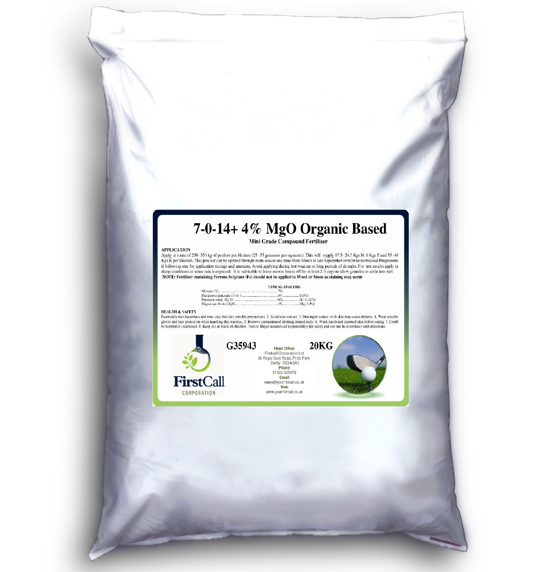 7-0-14 +4%MgO Organic Mini Grade
